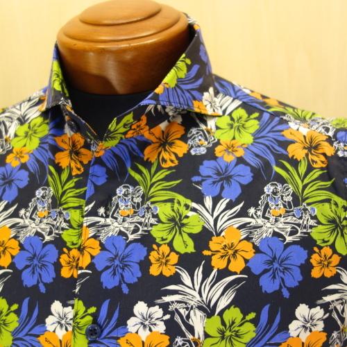 CIT LUXURY(チット・ラグジュアリー)ハワイアンプリントショートスリーブシャツ(GPAULM)_c0118375_15091546.jpg