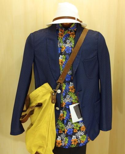 CIT LUXURY(チット・ラグジュアリー)ハワイアンプリントショートスリーブシャツをコーディネート..._c0118375_15105844.jpg