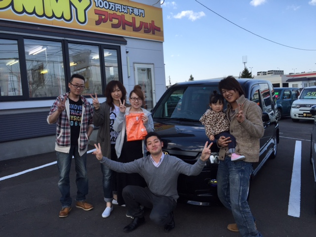 4月24日(日)トミーアウトレット★K様モビリオスパイクご成約!!納車祭り!!_b0127002_1935866.jpg
