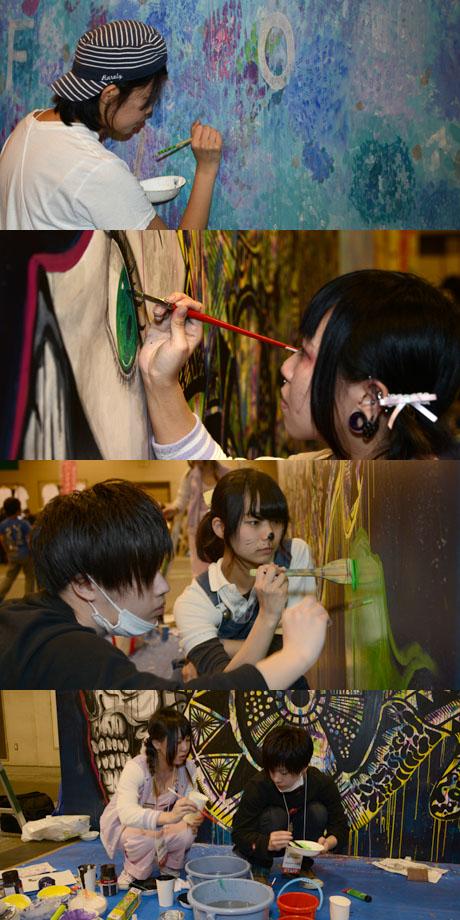 名古屋総合デザイン専門学校の在校生がハンドメイド市場でライブペイント2_b0110019_13533824.jpg