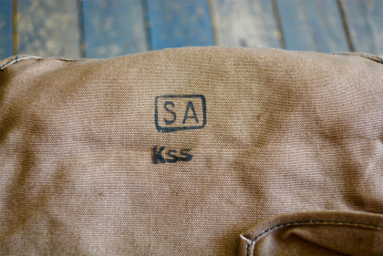 Hungarian army 40\'s linen gas mask bag dead stock_f0226051_1535399.jpg