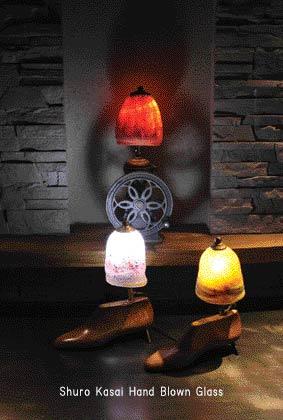 笠井秀郎展 再製吹きガラスの灯り_a0260022_23422658.jpg
