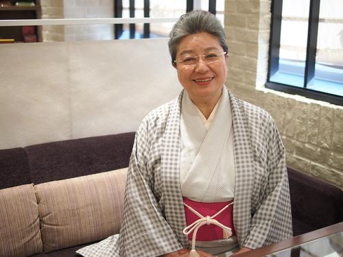 お着物で、、、三林京子さん!_e0195325_1810471.jpg