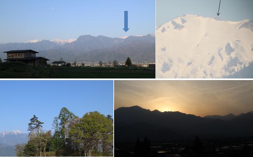 月と夕焼けと山小屋_a0212730_18474199.jpg