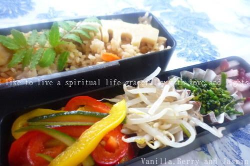 【今日のお弁当】筍ご飯と鮭の南蛮漬け_c0332287_12023961.jpg