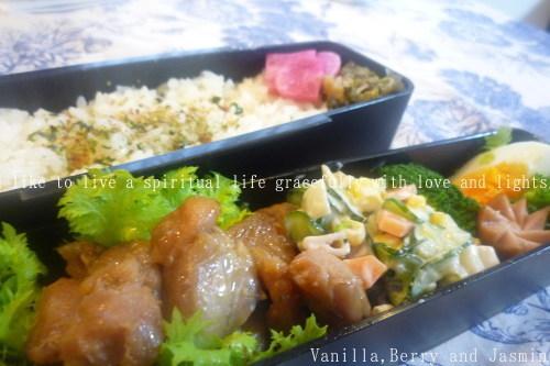 【今日のお弁当】鶏の照り焼き_c0332287_10320283.jpg