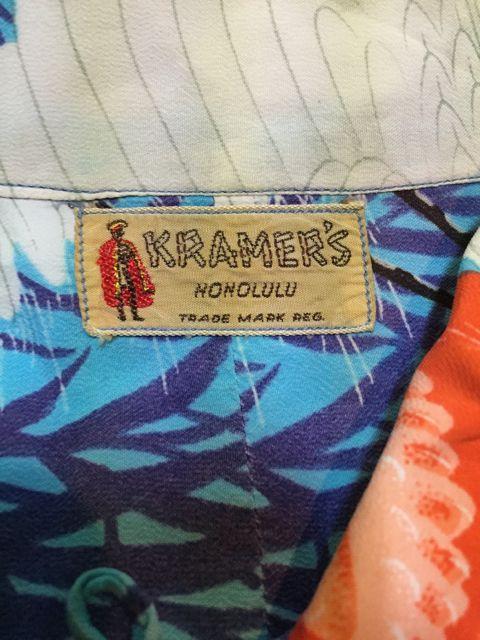 ゴールデンウィーク第2弾 4/30 入荷!40s  KRAMER\'S 和柄 hawaiian shirts!!_c0144020_160438.jpg