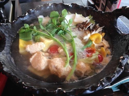 【中軽井沢】村民食堂の『沢のクレソン鍋』_d0035921_17031621.jpg