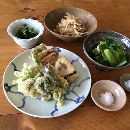 今朝は、天ぷら。_a0026127_18531452.jpg