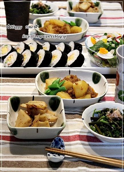 カラフル焼肉丼弁当とあるものでおうちご飯♪_f0348032_19240850.jpg