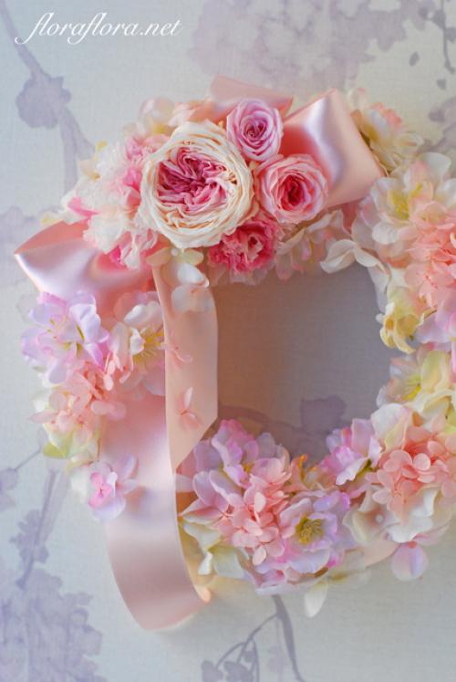 母の日フラワーギフト プリザ&アーティフィシャルフラワーリース UPしました 東京目黒不動前フラワースタジオフローラフローラ_a0115684_22185196.jpg