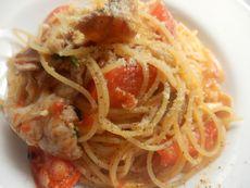 4/30本日パスタ:豚肉とフレッシュトマトのスパゲティ_a0116684_11563045.jpg