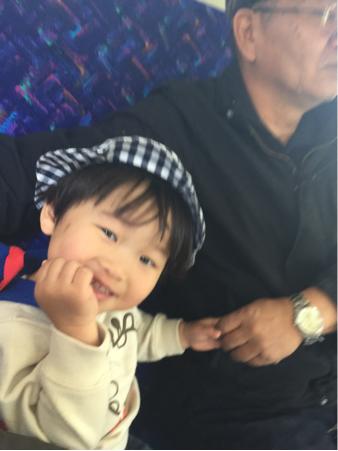 孫っち1号くん、初体験に満面の笑顔☆*:.。. o(≧▽≦)o .。.:*☆_b0175688_21244580.jpg