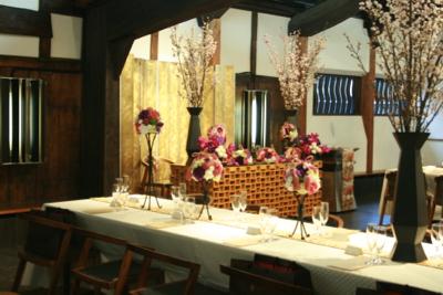 博多百年蔵 会場装花(春です♫)_e0149863_1410855.jpg