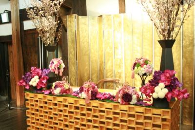 博多百年蔵 会場装花(春です♫)_e0149863_148264.jpg