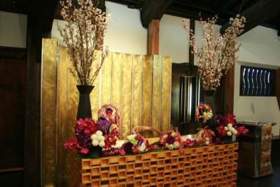 博多百年蔵 会場装花(春です♫)_e0149863_1482740.jpg