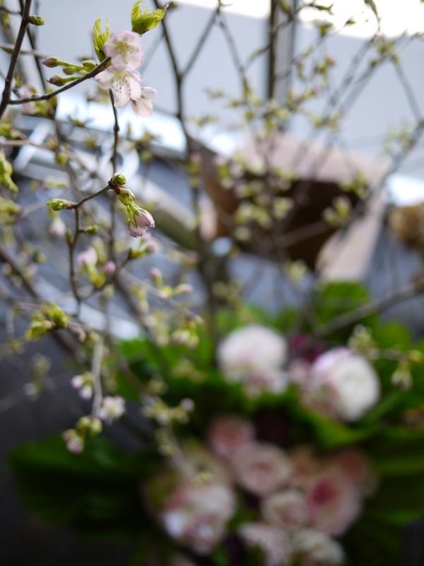 南3西1の成吉思汗のお店のオープンに、スタンド花とアレンジメント。_b0171193_02061327.jpg