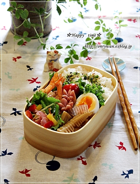 エビのガーリックシュリンプ弁当とコストコ~のサーモン丼♪_f0348032_19224652.jpg