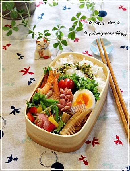 エビのガーリックシュリンプ弁当とコストコ~のサーモン丼♪_f0348032_19225539.jpg