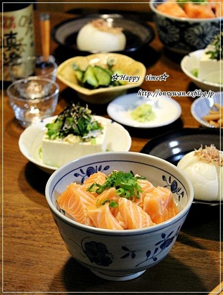 エビのガーリックシュリンプ弁当とコストコ~のサーモン丼♪_f0348032_19232085.jpg