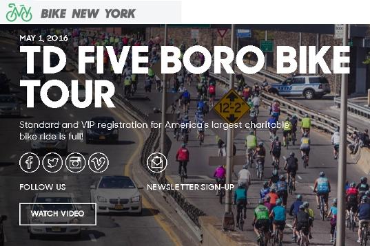 世界最大NYのチャリティ自転車ツアー、Five Boro Bike Tour_b0007805_22561943.jpg