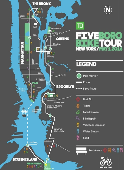 世界最大NYのチャリティ自転車ツアー、Five Boro Bike Tour_b0007805_2257633.jpg