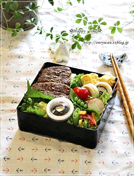 ステーキ弁当とカラフル野菜でマリネ♪_f0348032_17312467.jpg