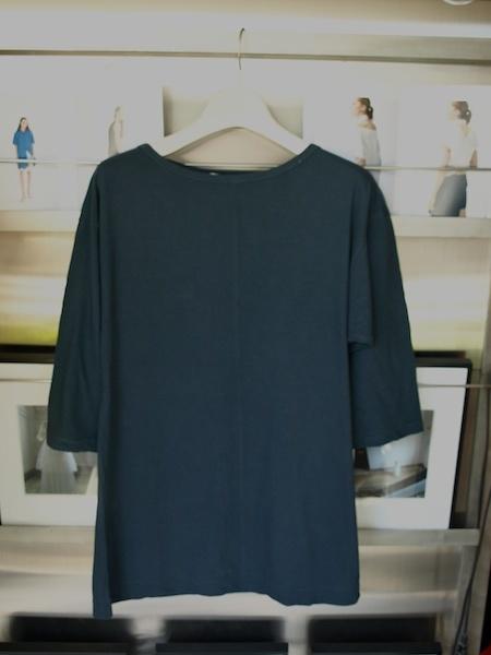 着心地の良い服 体型が目立たずに綺麗に着れるMILFOILオーガニックコットン五分袖カットソー_e0122680_19422649.jpg