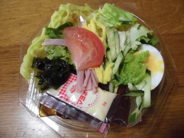 デイリーカナートのミニ寿司セットと冷やし中華_c0118393_1726820.jpg