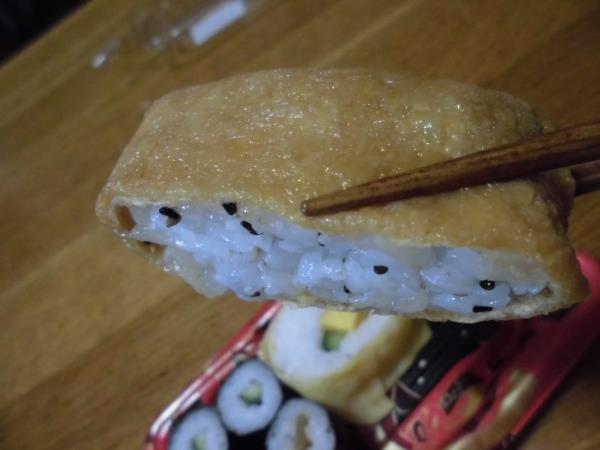 デイリーカナートのミニ寿司セットと冷やし中華_c0118393_17452163.jpg