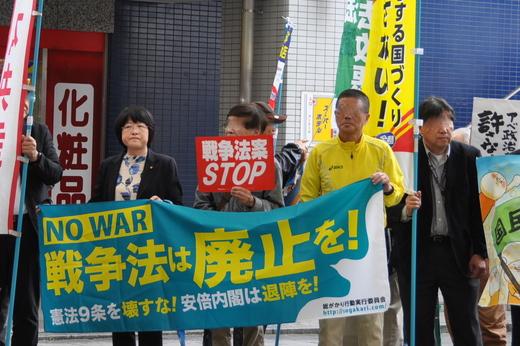 だれの子どもも ころさせない 戦争なんていらない。今すぐ廃止に アピールin高松 5月6日 レポ _b0242956_2181377.jpg
