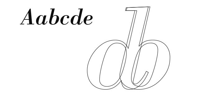 イタリック体の文字の微妙な傾き_e0175918_1540527.jpg