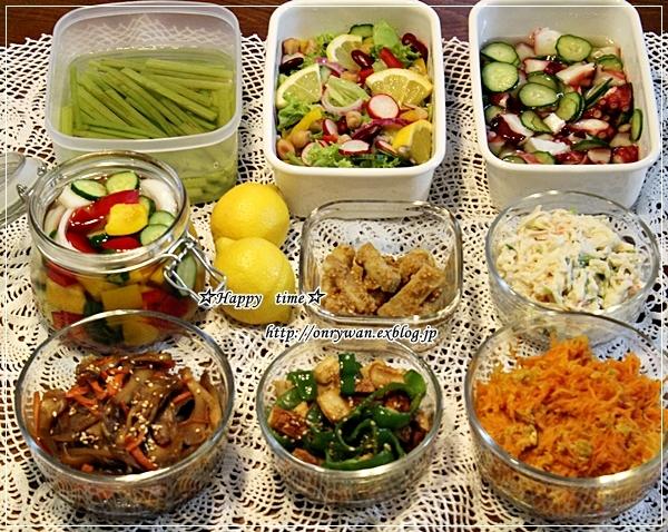 エビチリ弁当と常備菜作り♪_f0348032_17543548.jpg