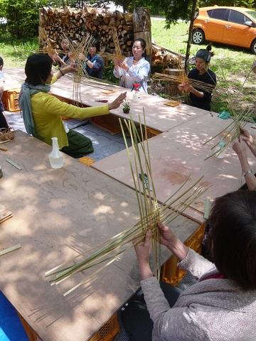 竹かご(四海波)作りワークショップ_d0184405_192372.jpg