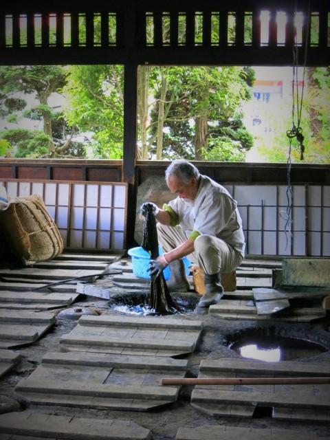 初めての「益子 春の陶器市」②日下田藍染工房~_f0236260_1572017.jpg