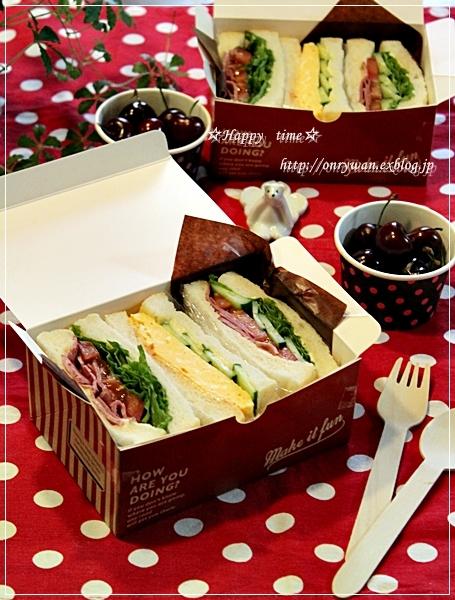 湯種食パンでサンドイッチ弁当♪_f0348032_18015832.jpg