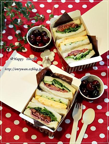湯種食パンでサンドイッチ弁当♪_f0348032_18020869.jpg