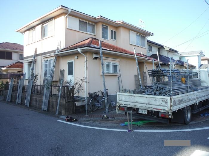 屋根・外壁の塗り替え ~ 足場組み_d0165368_853317.jpg