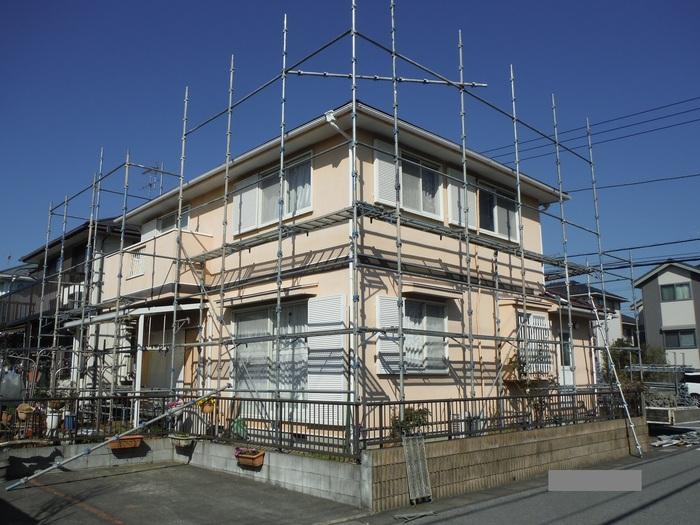 屋根・外壁の塗り替え ~ 足場組み_d0165368_855984.jpg