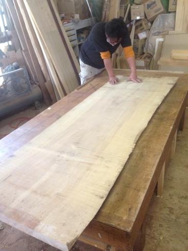 家具~栃の無垢板のデスクテーブル_f0348078_09311902.jpg