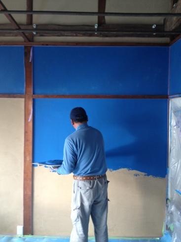 左官〜群青色の壁_f0348078_10272675.jpg