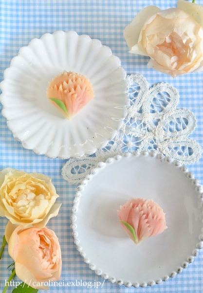 母の日のカーネーション練りきり  Homemade Carnation Nerikiri on Mother\'s Day_d0025294_19351252.jpg