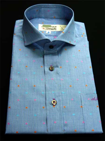 お客様のシャツ ブルー_a0110103_19103743.jpg