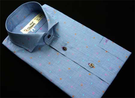 お客様のシャツ ブルー_a0110103_19105247.jpg