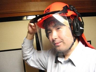 ハスクバーナ社製ヘルメット改造・修理_f0182936_16373703.jpg