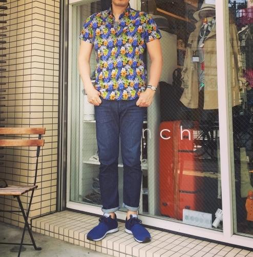 CIT LUXURY(チット・ラグジュアリー)ハワイアンプリントショートスリーブシャツをコーディネート..._c0118375_10560672.jpg