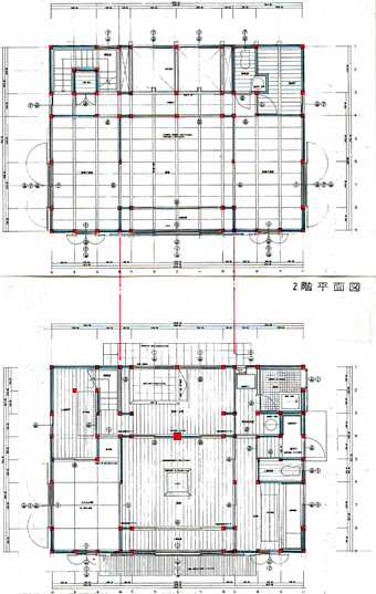 左右対称の建築・・板倉の家_c0195909_12445127.jpg