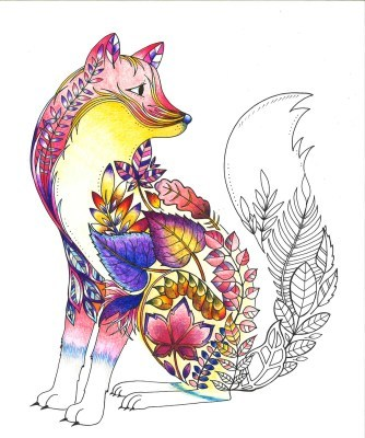 ねむれる森 アーティストセレクション色を塗ったキツネ オトナの