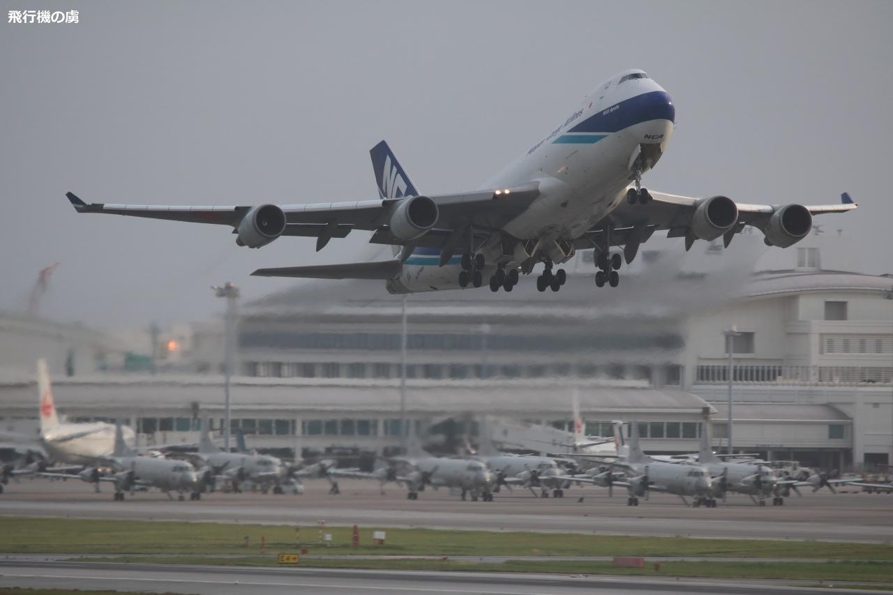 潮風を受けながら 早朝の離陸 747  日本貨物航空(KZ)_b0313338_04501577.jpg