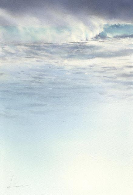 時化 水彩画_f0176370_1454732.jpg